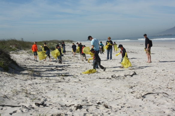 International Coastal Cleanup 2011 in South Africa.